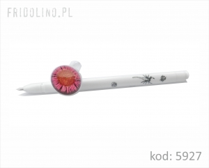 Ball Pen Flower 5, WHITE